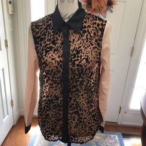 Ark & Co. Leopard Print Button Down Shirt
